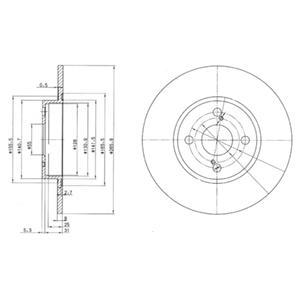 BG3186 Диск тормозной TOYOTA COROLLA 92-02 задний D=266мм.