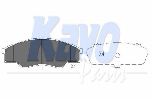 KBP9102 Колодки тормозные TOYOTA HILUX 06- передние