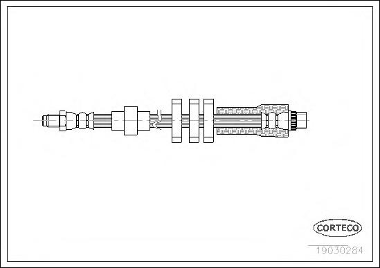 19030284 Шланг тормозной Peugeot