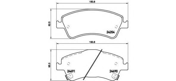 p83081 Комплект тормозных колодок, дисковый тормоз
