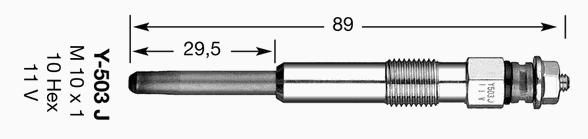 1009 Свеча накала D-Power 10 Y-503J