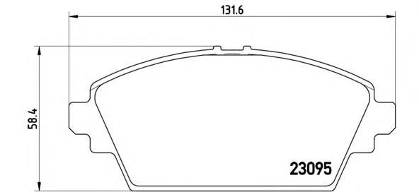 P56044 Колодки тормозные NISSAN PRIMERA (P12) 02/ALMERA TINO 0005 передние