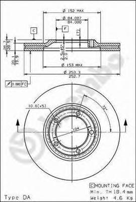 09680410 Тормозной диск