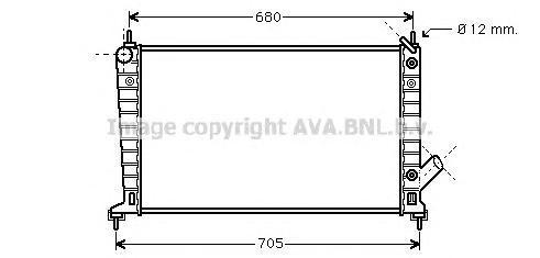 SB2036 Радиатор SAAB 9-5 2.0/2.3 97-
