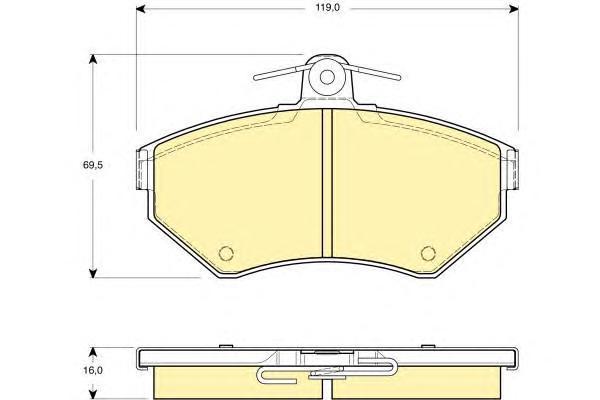 6114371 Колодки тормозные VOLKSWAGEN G3/CADDY 9504/POLO 9501 передние