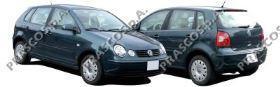 VW0217113 Зеркало в сборе механическое правое, черное / VW Polo 02~05