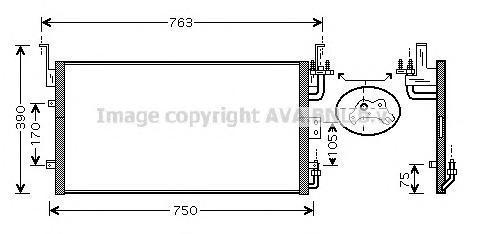 HY5083 Радиатор кондиционера HYUNDAI: SONATA III (EF) 2.0 16V/2.4 16V/2.5 V6 24V 98 - 01