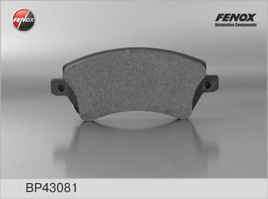 BP43081 Колодки тормозные TOYOTA COROLLA (E12) 1.4/1.6/1.8/2.0 0002/02 передние