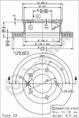 09961814 Диск тормозной передний MERCEDES SPRINTER