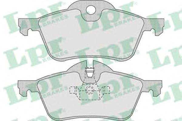 05P851 Колодки тормозные MINI COOPER/ONE 1.4/1.6 01- передние