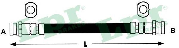 6T48124 Шланг тормозной CHEVROLET AVEO 05- задний правый