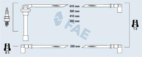 85840 Комплект проводов зажигания