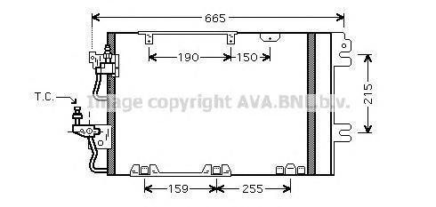 OL5384 Радиатор кондиционера OPEL: ASTRA H 2.0 Turbo 04 - , ASTRA H GTC 2.0 Turbo 05 - , ASTRA H TwinTop 2.0 Turbo 05 - , ASTRA