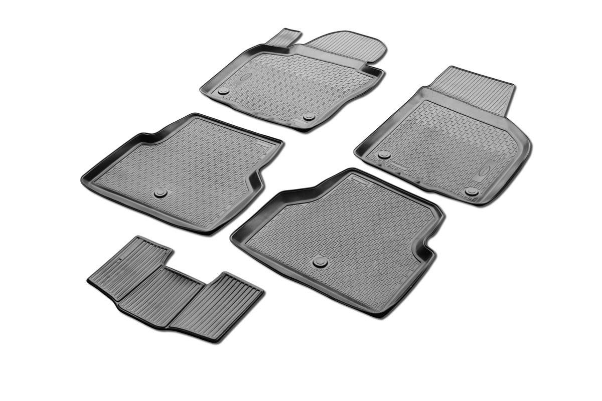 0015805001 Комплект автомобильных ковриков Volkswagen Tiguan 2011 - , полиуретан, низкий борт, 5 предметов, крепеж для передних
