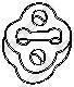 255507 Подвеска глушителя SUBARU