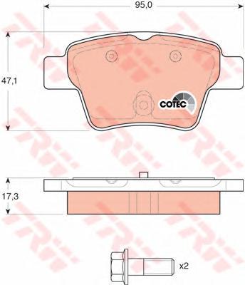 GDB1620 Колодки тормозные CITROEN C4 04-/PEUGEOT 207 06-/307 00- задние торм.сист.BOSCH