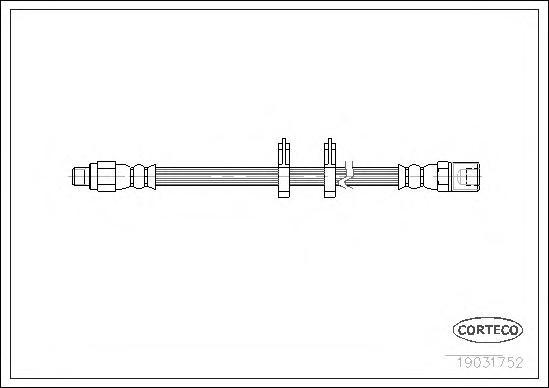 19031752 Шланг тормозной IVECO