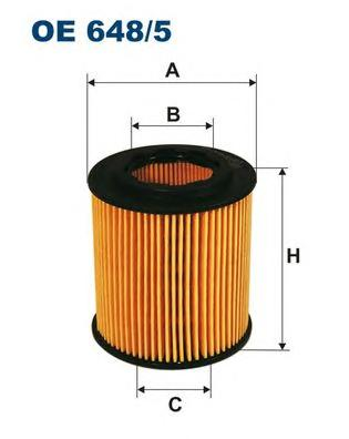OE6485 Фильтр масляный OPEL ASTRA/VECTRA 1.9 CDTi