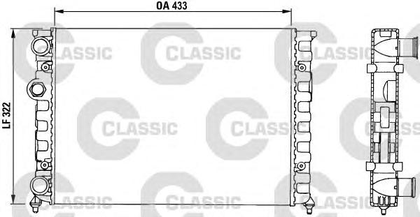 230503 Радиатор VW GOLF 1.4/1.6 91-96