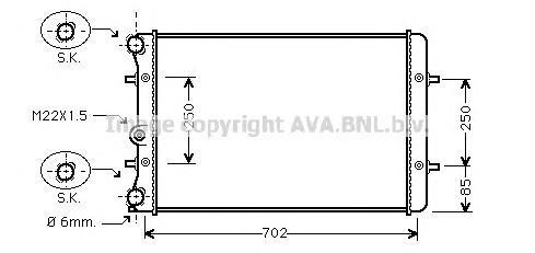 AI2155 Радиатор VAG G4 1.6/1.8/1.9TD A/T 97-06