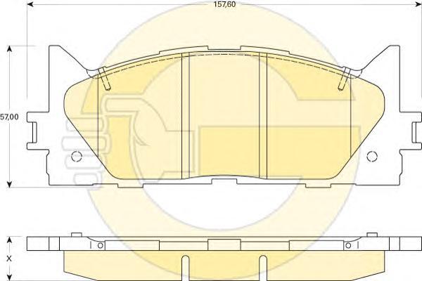 6134299 Колодки тормозные TOYOTA CAMRY V40 06-/V50 11-/LEXUS ES 240/350 06- передние