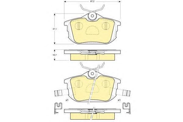 6113141 Колодки тормозные MITSUBISHI COLT 04/SMART FORFOUR 05/VOLVO S40/V40 задние