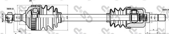 245007 Привод в сборе PEUGEOT 406 1.9TD-2.0 95-04 лев. +ABS