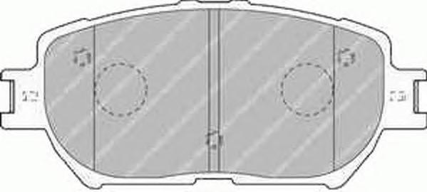 FDB1620 Колодки тормозные TOYOTA CAMRY (_V30_) 2.4/3.0 0104 передние