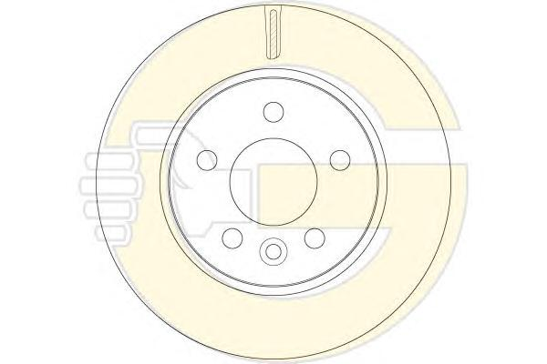 6064821 Диск тормозной VW AMAROK передний вент.D=303мм