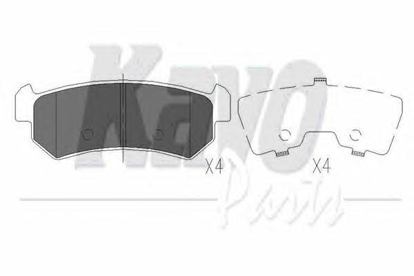 KBP1007 Колодки тормозные CHEVROLET LACETTI 03-06/DAEWOO NUBIRA задние