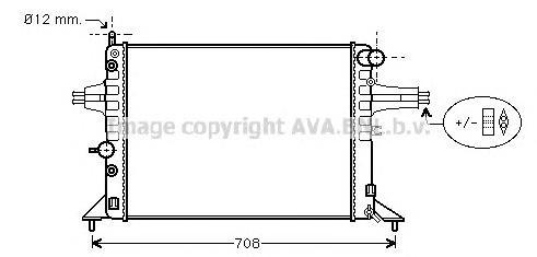 OLA2256 Радиатор системы охлаждения OPEL: ASTRA G Наклонная задняя часть (F48_, F08_) 1.4 16V/1.6/1.6 16V/1.8 16V 98 - 05 , ASTR