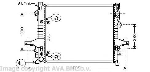 VO2133 Радиатор VOLVO XC90 2.5/3.2 02-