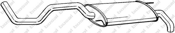 279117 Глушитель SEAT IBIZA 1.4/1.9 96-99