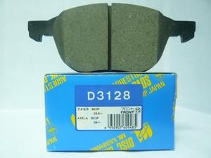 D3128 Колодки тормозные FORD FOCUS II 04-/III 10-/MAZDA 3 03-/VOLVO S40 04- передние