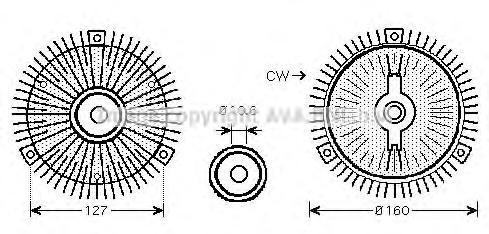 MSC488 Вискомуфта MB W463/SSANGYONG KYRON/REXTON 2.7/3.2