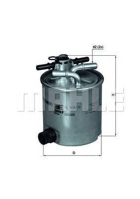 KL40416 Фильтр топливный RENAULT LOGAN/SANDERO 1.5D 05-