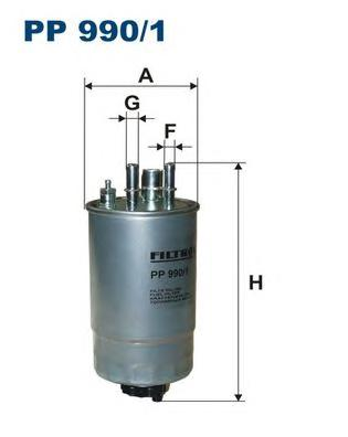 PP9901 Фильтр топливный OPEL MERIVA 1.3D -10