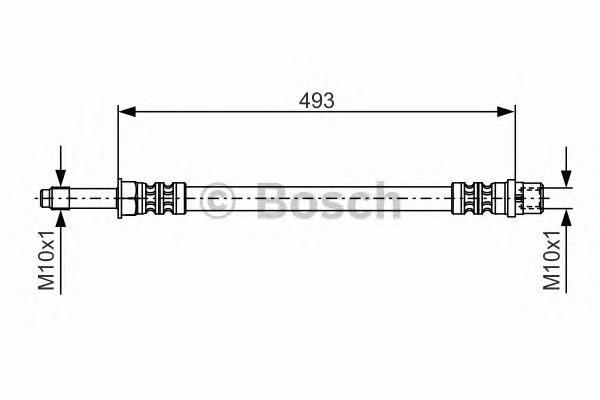 1987476294 Шланг тормозной MB SPRINTER -06 490мм передний