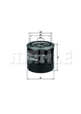 OC500 Фильтр масляный SUBARU: LEGACY IV 03-, LEGACY IV универсал 03-