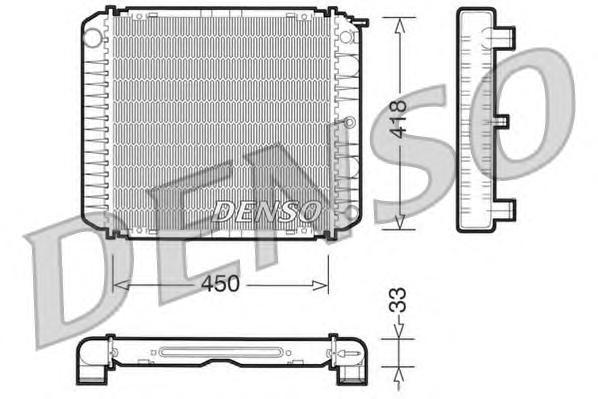 DRM33004 Радиатор системы охлаждения VOLVO: 240 (P242, P244) 2.0/2.1/2.1 Turbo/2.3/2.3 i KAT 74 - 93 , 240 Kombi (P245) 2.0/2.1/