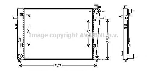 HY2204 Радиатор системы охлаждения HYUNDAI: TUCSON (JM) 2.0 CRDi/2.0 CRDi Привод на все колеса 04 -