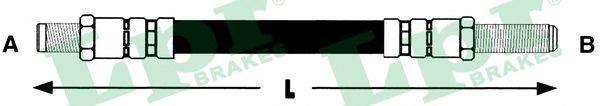 6T46108 Шланг тормозной M10x1x370 mm пер.SIERRA