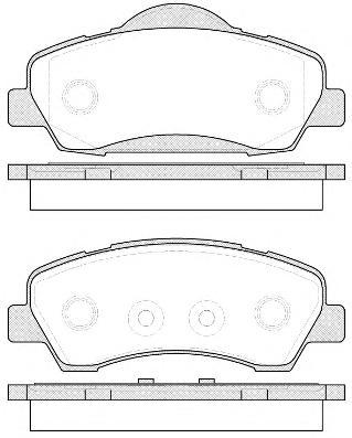 153000 Комплект тормозных колодок, дисковый тормоз