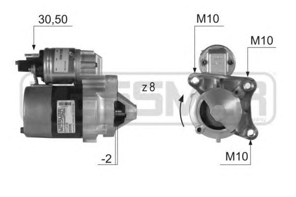 220399 Стартер RENAULT LOGAN/SANDERO/CLIO/KANGOO/MEGANE 1.4/1.6 8V