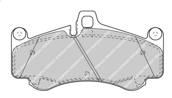 fdb4328 Комплект тормозных колодок, дисковый тормоз