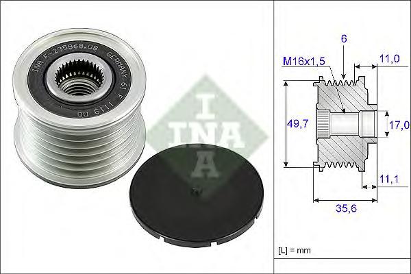 535008610 Муфта свободного хода MB W211 2.0TD-2.8TD 01-