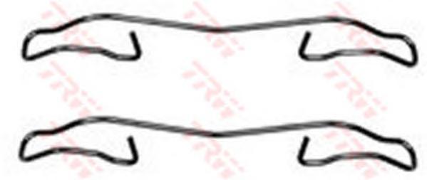 PFK347 Пружины прижимные дисковых колодок к-т.FORD/MAZDA/RENAULT/VOLVO зад.