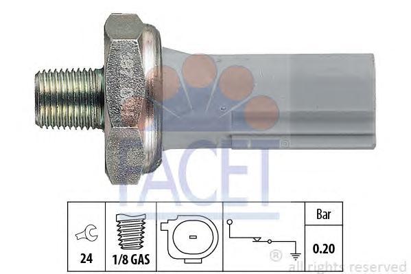70187 Датчик давления масла CITROEN: C-CROSSER (EP_) 2.4 16V 07-  MITSUBISHI: COLT VI 1.1/1.3/1.5/1.5 CZT 04-, GRANDIS 2.4 04-,
