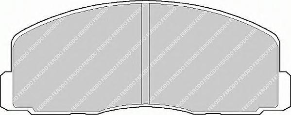 FDB368 Колодки тормозные MITSUBISHI GALANT/LANCER 1.8-2.0 88-00 передние