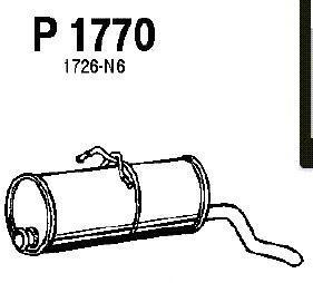 p1770 Глушитель выхлопных газов конечный